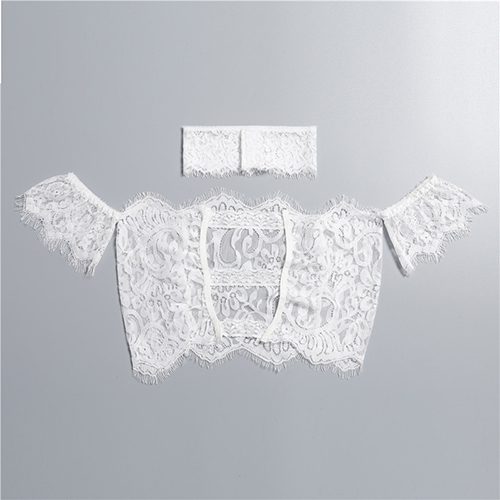 Sexy See-Through White Lace Corsets(With Choker)
