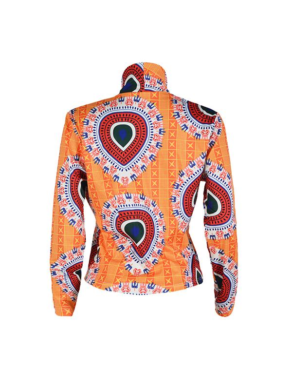 Euramerican Turndown Collar Long Sleeves Non Positioning Printing Coat