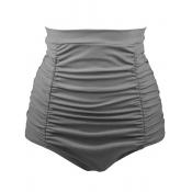 Pantalones cortos de poliéster de alta cintura