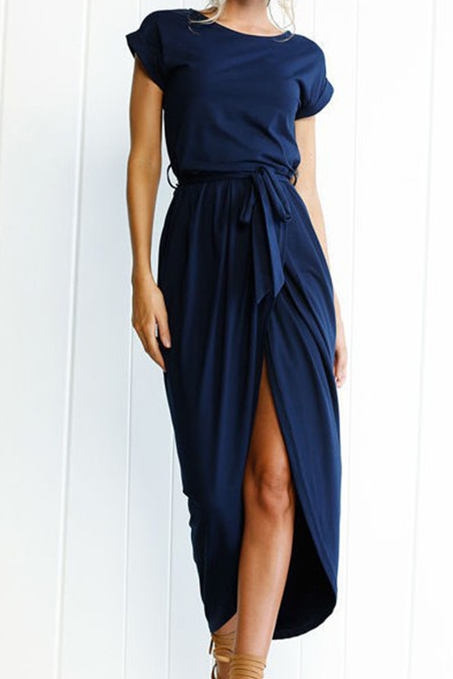 Lovely After Midnight Green Casual Maxi Dress