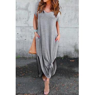 Fashion See Me Pocket Maxi Casual Dress