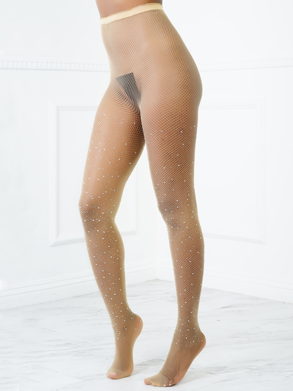 Sexy Sequined Decorative Complexion Acrylic Bodystocking
