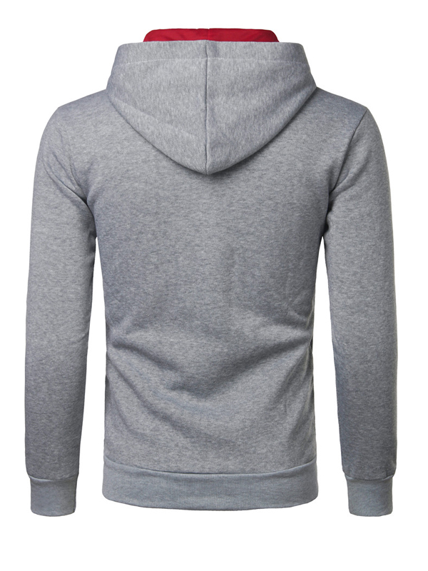 Cotton Blends Hooded collar Long Sleeve Solid Men Clothes