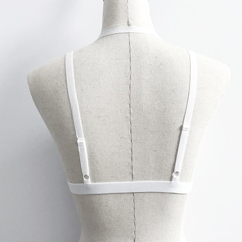 Corsé de Spandex blanco hueco-hacia fuera atractivo