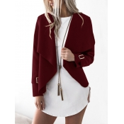Lovely Polyester Turndown Collar Long Sleeve Regul