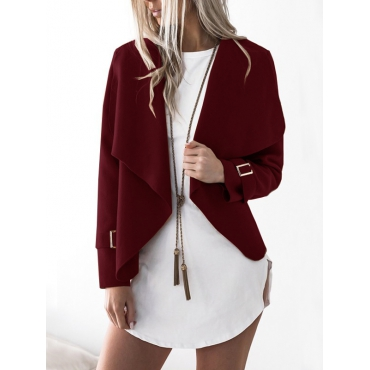 Lovely Polyester Turndown Collar Long Sleeve  Regular Coat&Jacket