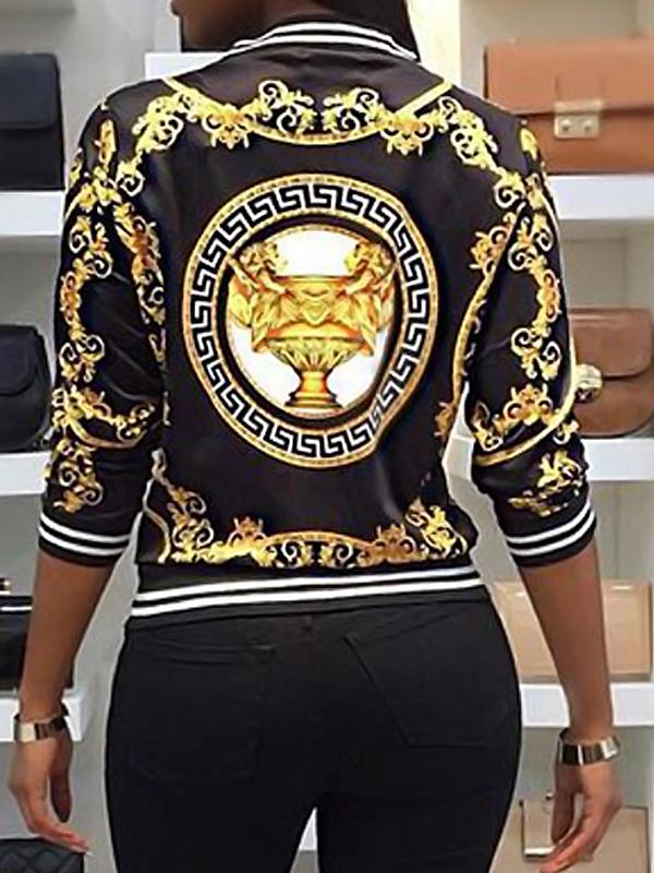 Lovely Polyester Fashion Regular Long Sleeve Coat&Jacket