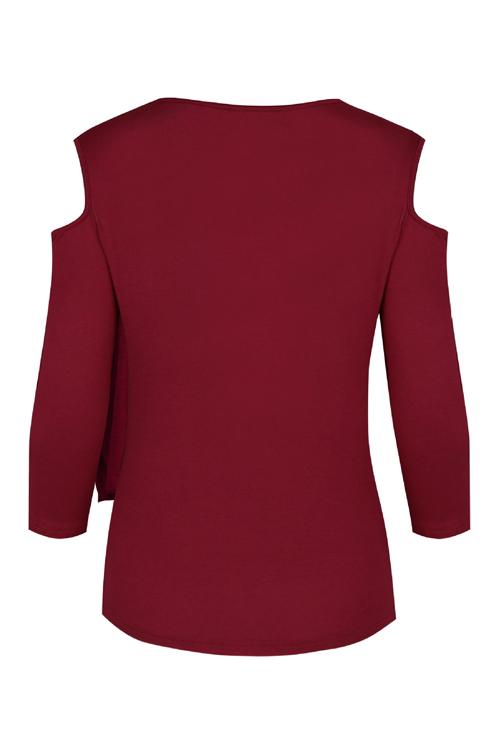 Manches longues à manches longues-Vêtements de blé en coton rouge