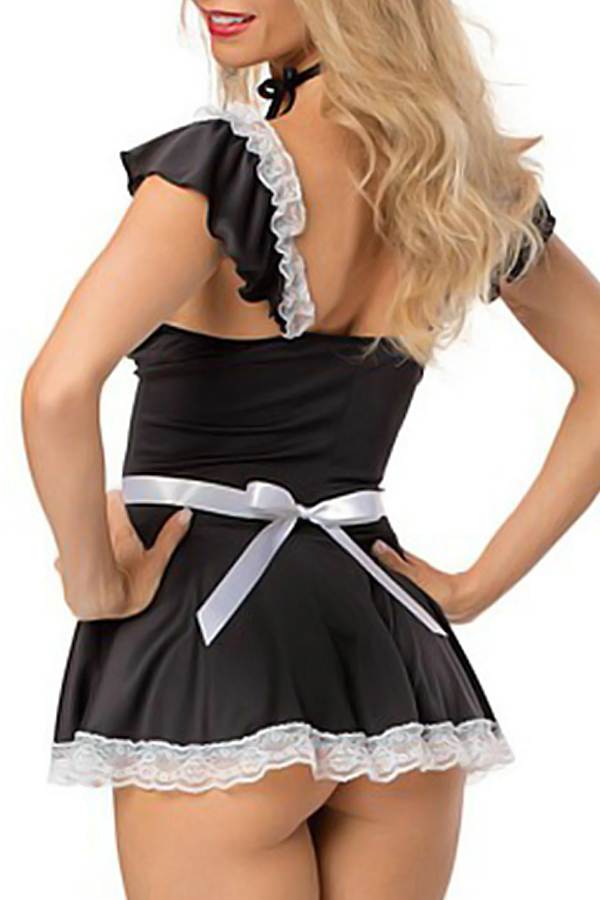 Polyester Maid Cosplay Costumes