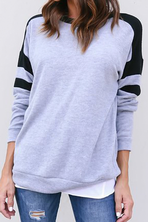 Lovely Ready For Color Splicing Hoodie