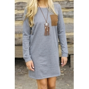 Big City Night Long Sleeves Mini Dress