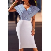 Cotton Blend Sexy V Neck Cap Sleeve Short Sleeve S