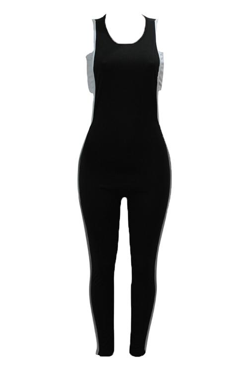 Sexy aushöhlen schwarze Baumwolle zweiteilige Hose Set