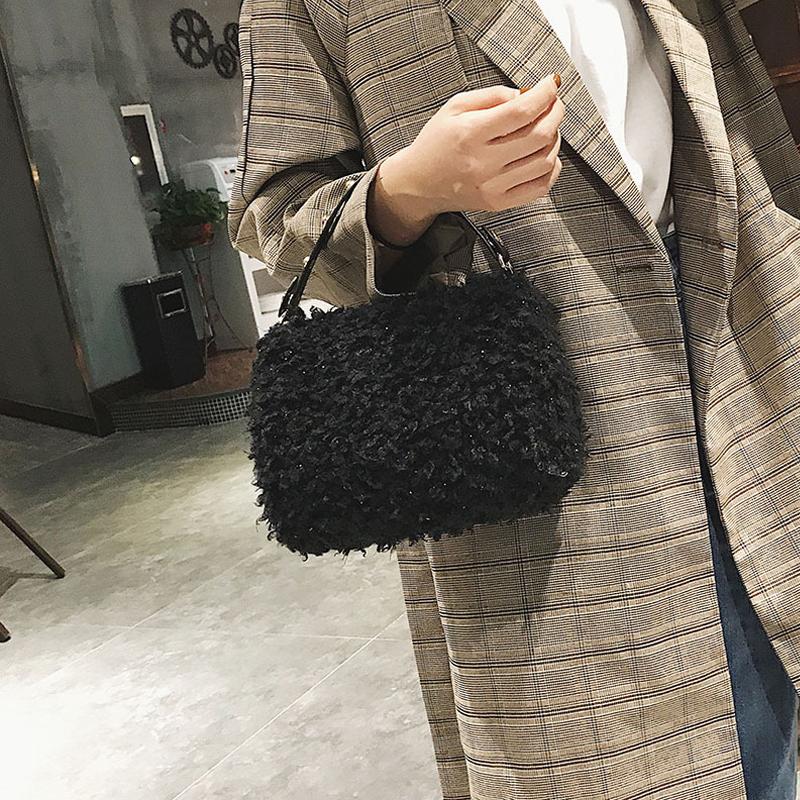 Bolsos de embrague de poliéster de diseño con cremallera de moda