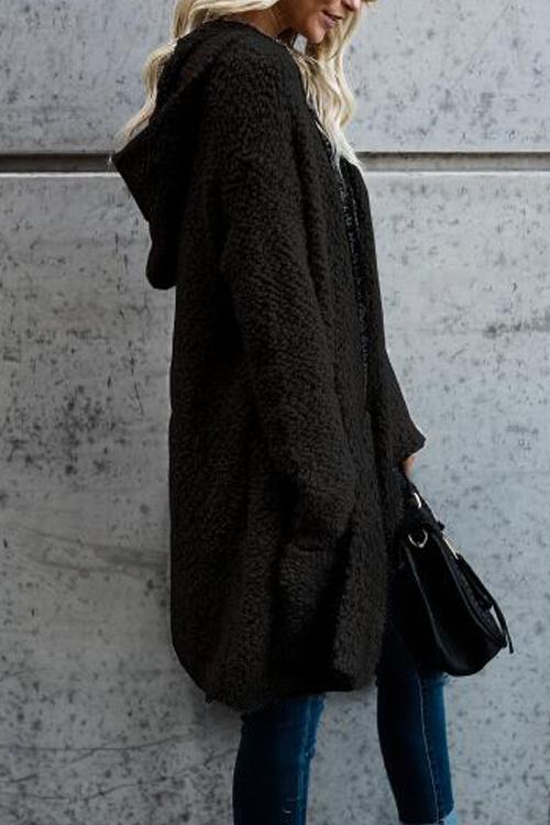 Lovely Euramerican Long Sleeves Black Velvet Cardigans