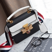 Fashion Zipper Hasp Design White PU Clutches Bags