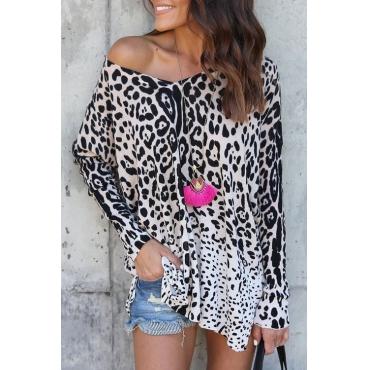 Lovely Stylish V Neck Panther Print Qmilch Shirts
