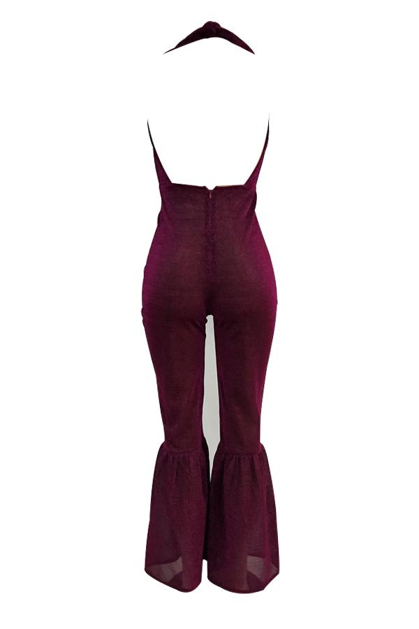Sexy Halterlose, Rückenfreie, Einteilige Jumpsuits Aus Polyester