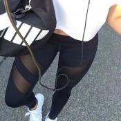 Poliéster Negro De Poliéster De Alta Cintura A La Moda