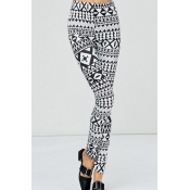 Euramerican High Waist Printed Polyester Leggings