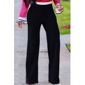 Fashion High Waist Patchwork Black Polyester Zippe