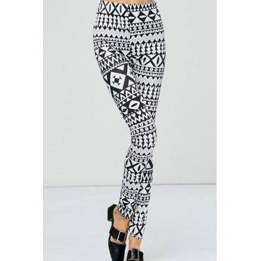 Euramerican High Taille gedruckte Polyester Leggings