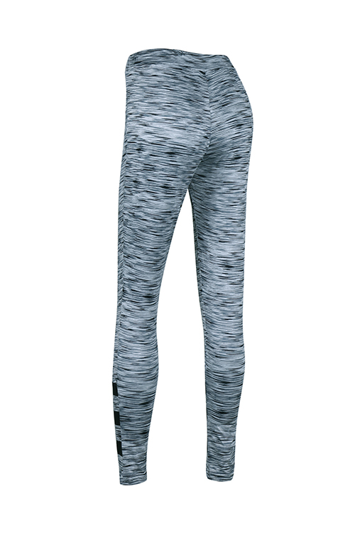 Stylische Hohe Taille Patchwork Grau Polyester Leggings