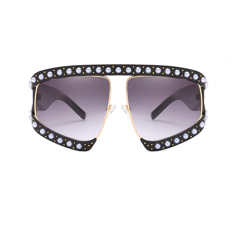 Ajuste De La Perla De Moda Gafas De Sol Grandes De La PC Del Diseño Del Marco Grande