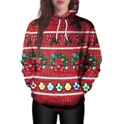 Euramerican Hooded Collar Christmas Printed Polyes
