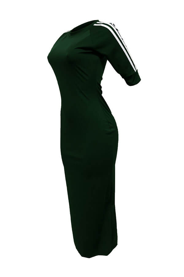 Симпатичная Шея Полосатая Армия Зеленая Полиэфирная Оболочка Среднего Теленка