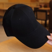 Lovely Fashion Black Cotton Baseball Hat