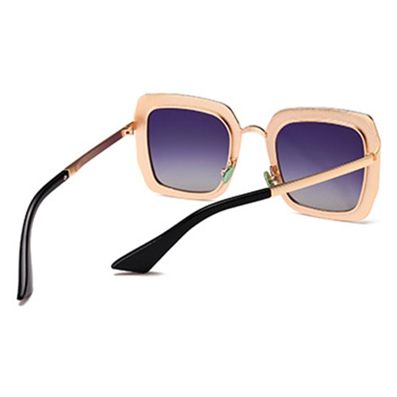 Reizende Schicke Diamante Dekorative Goldene Quadratische Rahmen PC-Sonnenbrille