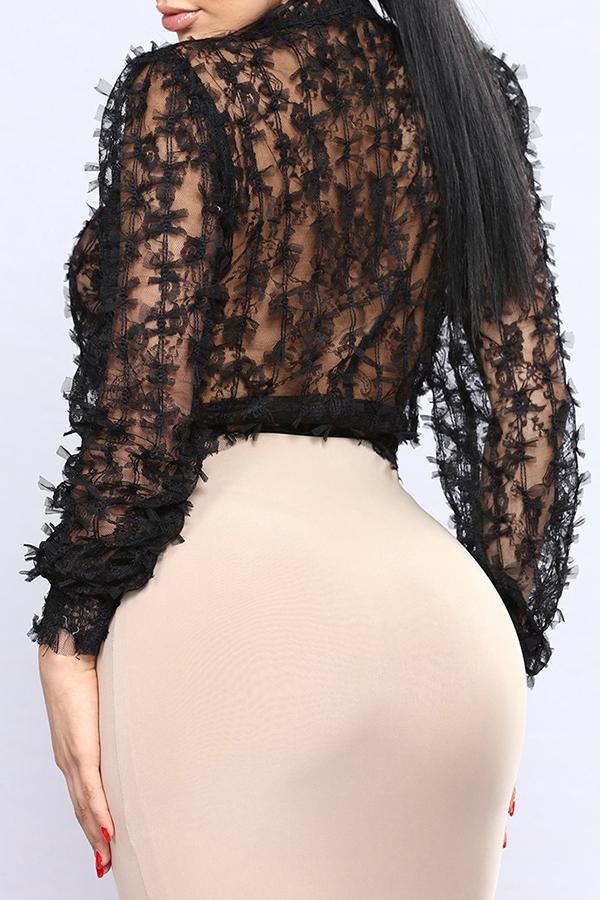 Adorável Sexy Em Volta Do Pescoço, Transparente, Arco, Decoração, Pretas, Gaze, Regata