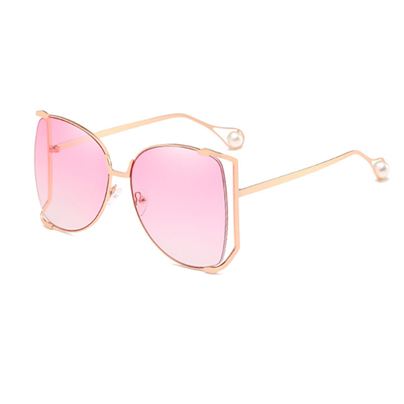 Lovely Fashion Pearl Decoration Pink PC Sunglasses