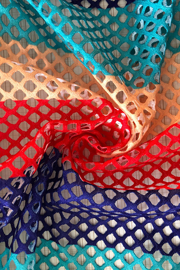 LovelyFashion V Neck Striped Printed Polyester Zipped Coat