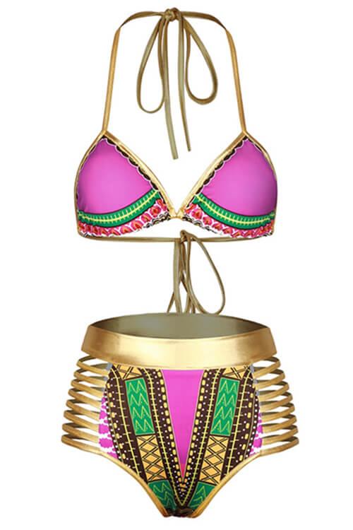 Bikinis Con Estampado De Precioso Poliéster