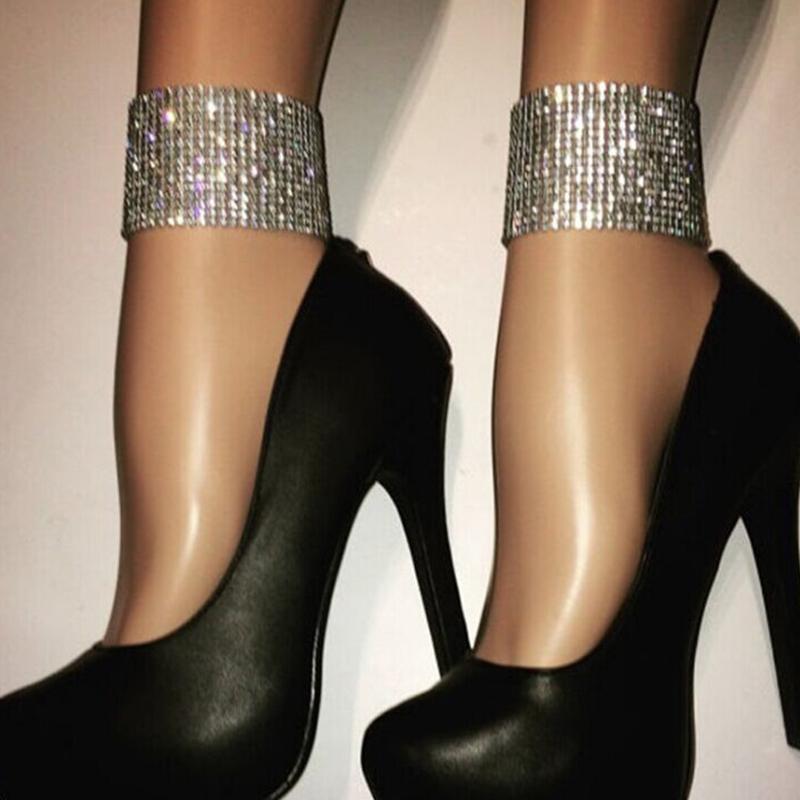 Encantadora Cadena De Metal De Plata Decorativa Diamante Elegante