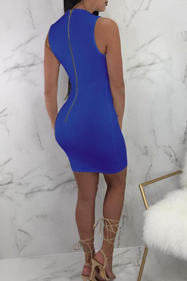 Lovely Polyester Sexy V Neck Tank Sleeveless Sheath Mini Dresses