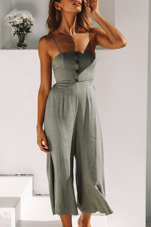 Lovely Cotton Blends Solid Regular Jumpsuits