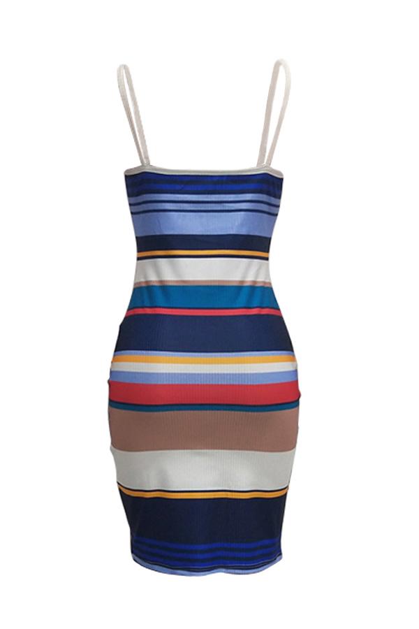 Lovely Fashion U neck Spaghetti Strap Sleeveless Sheath Knee Length Dresses