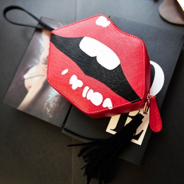 Lovely PU Fashion Character Zipper Clutches Bags