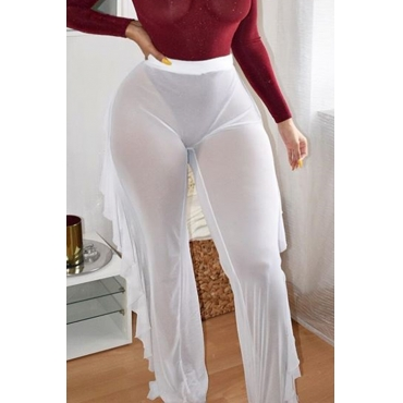 LovelyPolyester Solid Mid Boot Cut Pants Pants