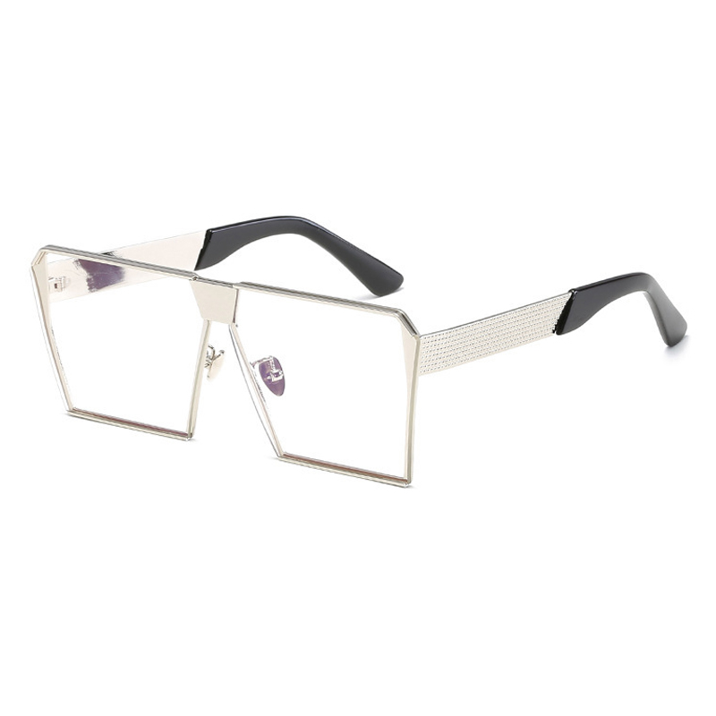 Lovely Fashion Square Frame Silver Metal Sunglasses