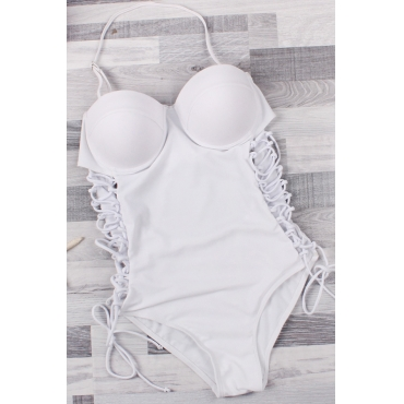 Lovely Sexy Hollow-out White One-piece Swimwear
