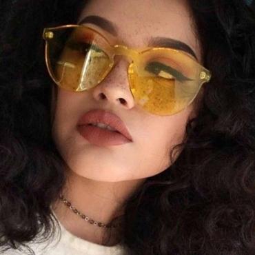 Lovely Euramerican Yellow PC Sunglasses