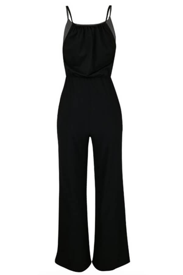 Lovely Trendy Loose Black One-piece Jumpsuit