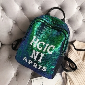 Lovely Casual Sequined Decorative Green Backpacks