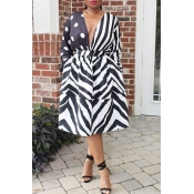 Lovely  Euramerican Striped Patchwork Black Twille