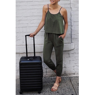 Lovely Casual Layered Army Green Qmilch One-piece Jumpsuit