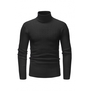 Lovely Casual Long Sleeves Black Knitting Sweaters